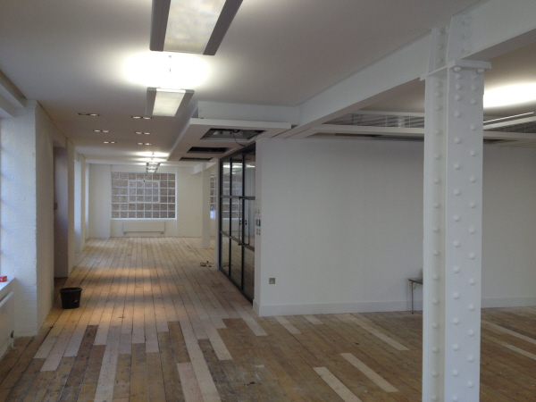 Picture showing completed 1st floor office area.