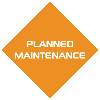 Planned maintenence icon back